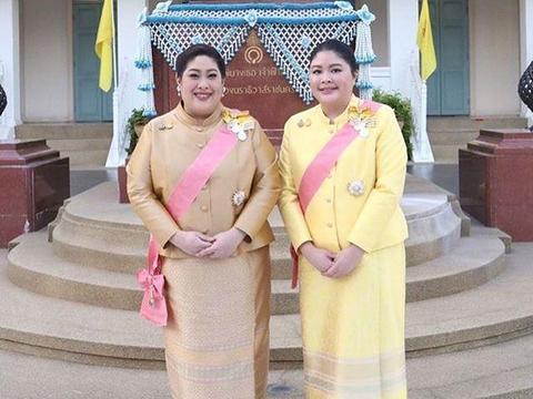 泰国最胖公主姐妹花亮相太抢镜!身材肥胖难掩贵气,伙食这么好?