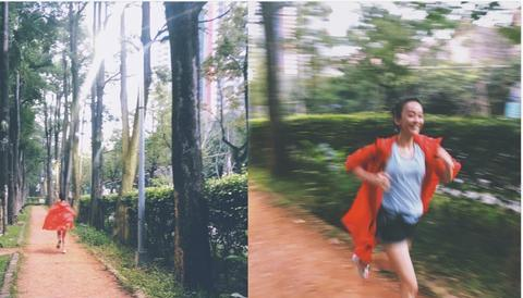 她曾挺孕肚跑步5公里,今穿吊带蕾丝裙扎高马尾,37岁依旧少女
