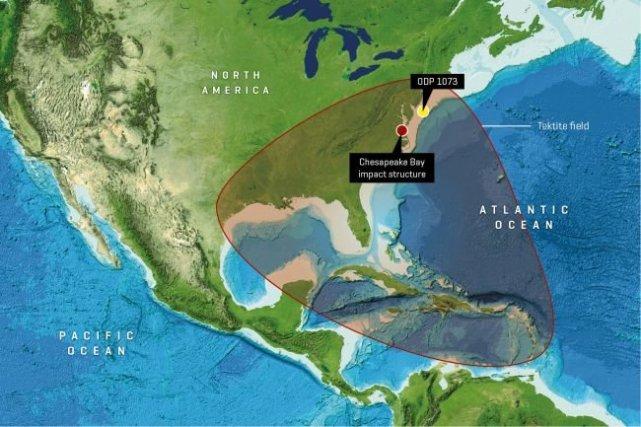 美国曾遭遇了最大的小行星撞击!留下长达40公里陨石坑!