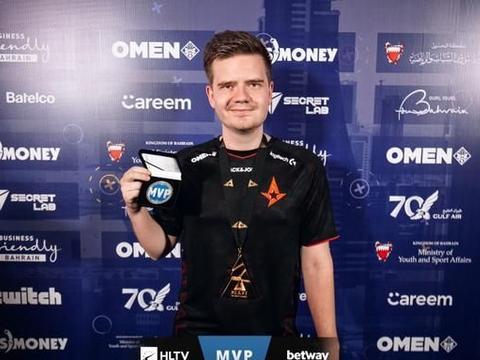 CSGO:稳操胜券!dupreeh荣获BLAST全球总决赛MVP奖项