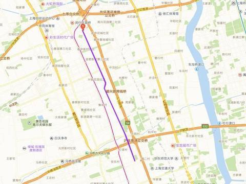 分析上海市闵行区南北向交通