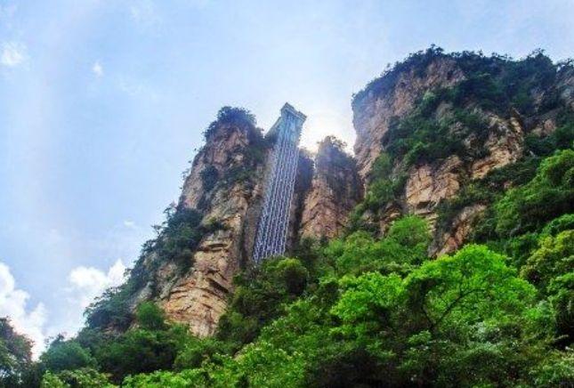 世界最高的電梯,耗資近2億號稱「世界第一梯」,就在湖南張家界