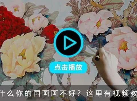 李晓明工笔牡丹扇面《香玉》绘制步骤