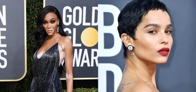 2020年金球奖好莱坞女星裸唇妆抢镜,超修饰脸型,饰唇如同微整