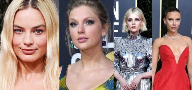 2020年金球奖好莱坞女星裸唇妆抢镜,超强标记脸型,饰唇如同微整