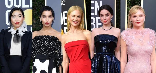 2020年金球奖好莱坞女星裸唇妆抢走镜,超强标记脸型,饰唇如同微整