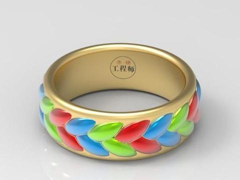 用SolidWorks画的稻穗状的指环,看过思路后,就会感觉好简单