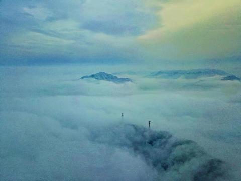 2020第一场雪后,云台山银装素裹 全省航拍高手相聚云台山