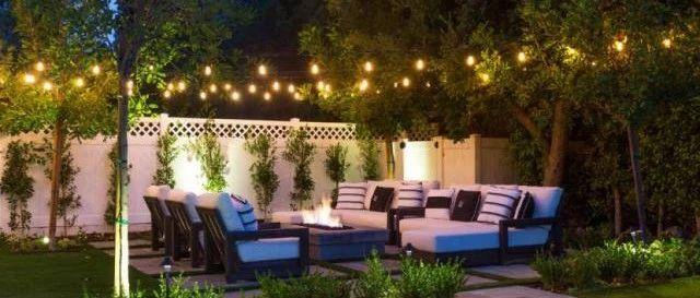 夜空中最亮的星,原来是花园中的灯串呀~