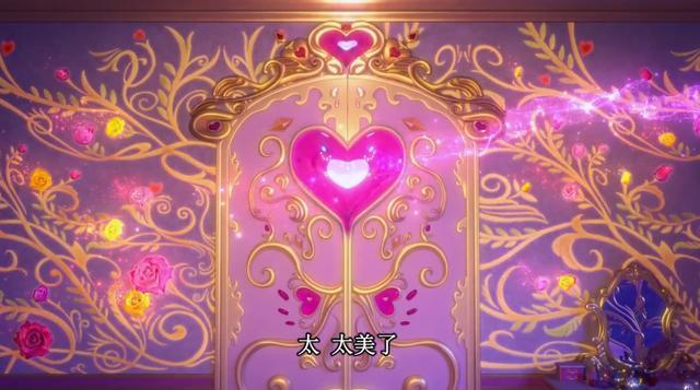 叶罗丽:罗丽公主品味高,梳妆台,小壁灯,还有超大落地窗