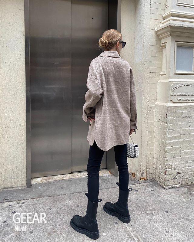 穿紧身牛仔裤搭配厚底靴:2020年这样穿才时髦!