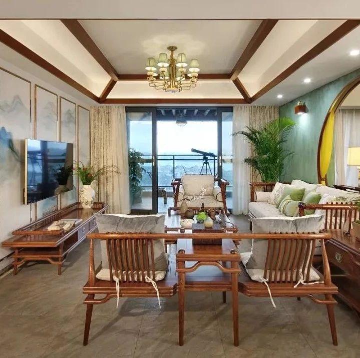 红木家具这样搭配窗帘,现代家居也完美和谐!