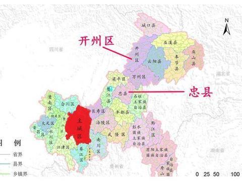 重庆忠县和开州有什么共同点?都是百万人口,目前还没铁路