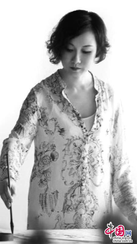 著名女画家陈琴水墨画作品在庆祝2020年中 印建交70周年入选画展