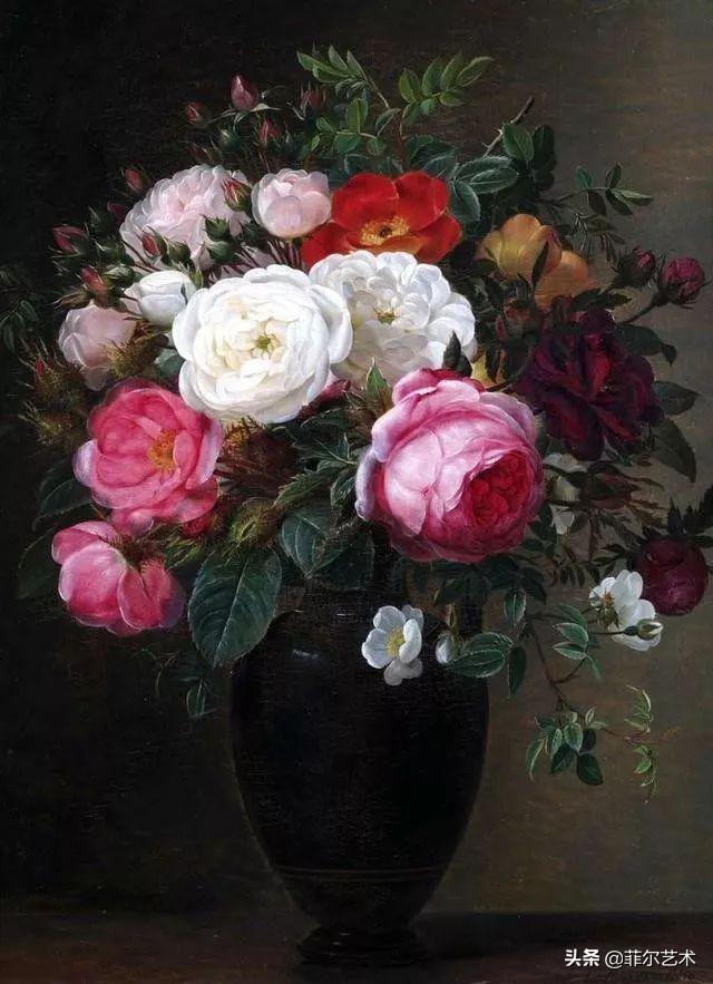 丹麦画家约翰·劳伦兹·詹森花卉静物71幅油画作品欣赏