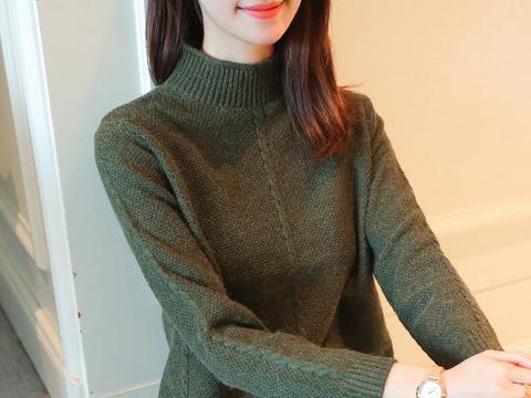 """有一羊绒衫,叫""""手工毛衣"""",大年初一,搭个萝卜裤"""