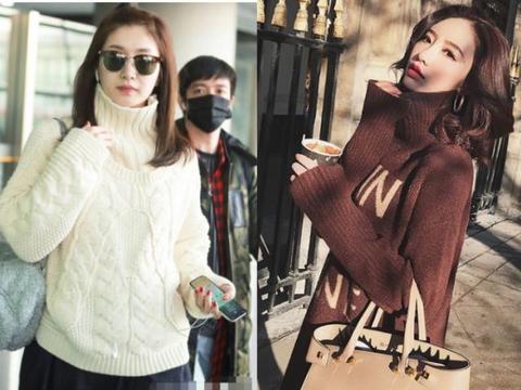 脖子短的女人,冬天穿高领毛衣时,注意好3点,照样时髦又显瘦!