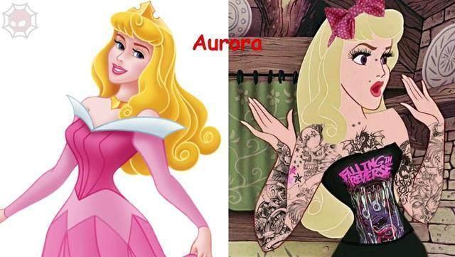"""当迪士尼公主变身""""不良少女"""",贝儿公主化身黑魔女,爱洛辣眼睛"""