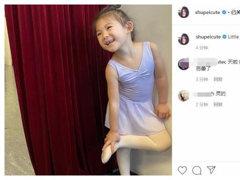陈冠希秦舒培培养女儿练芭蕾,豁牙Alaia憨笑模样超可爱