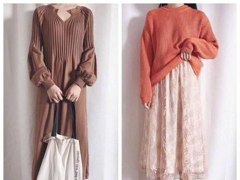 冬季实用穿搭技巧,裙装搭配廓形外套毛衣,营造优雅气质美