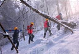 国网广平县供电公司大雪中最显眼的安全帽