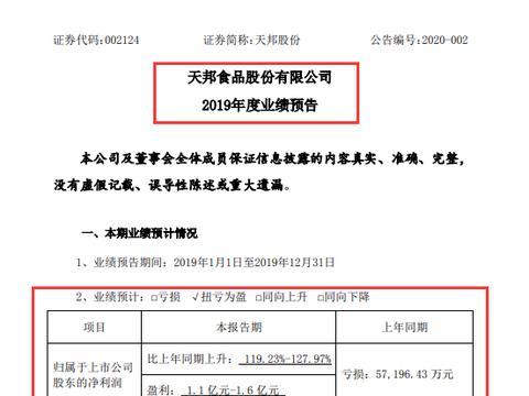 """天邦股份:2020年春节前夕的""""双重""""利好"""