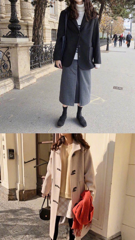 韩风少女的日常chic风穿搭,简约随性的好看