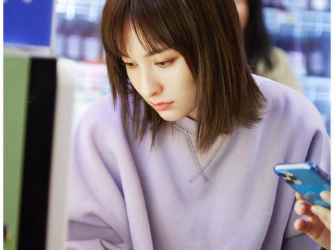 36岁吴昕衣品逆袭,连换3套紫色系造型,意外穿出少女感?