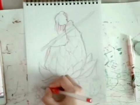 美术生手绘小说人物,资深粉才看得懂,网友:最虐心的画面