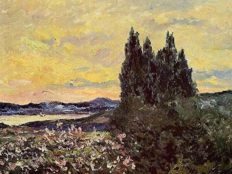 法国著名印象派画家马克西姆·莫福拉Maxime Maufra风景画