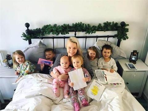 澳大利亚一女子患怪病无法生育,如今却成6个孩子的妈!