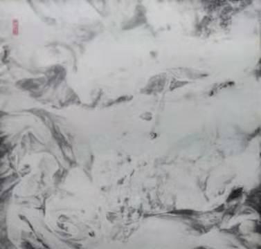 张勇无笔水墨作品展区