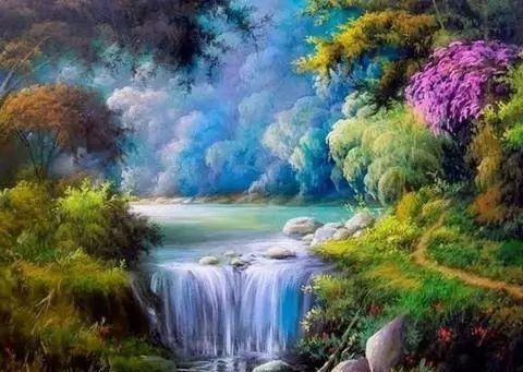 多彩风景,巴西画家乔治·麦吉尔作品欣赏
