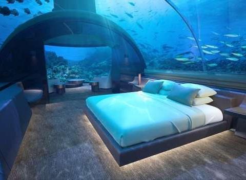 马尔代夫豪华海底别墅, 可尝试和鱼儿一起睡觉
