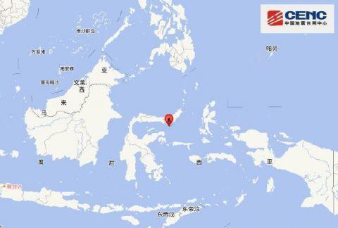 印尼米纳哈沙半岛附近发生6.2级左右地震