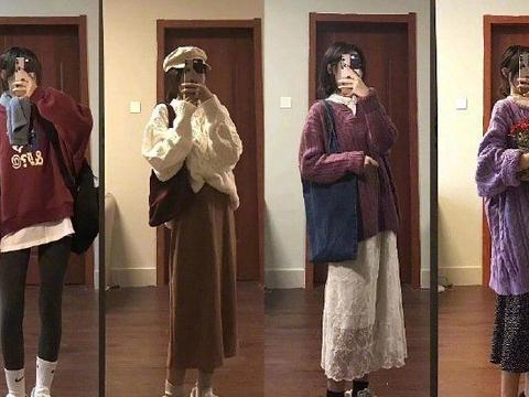 过年战袍穿什么?棉服大衣配长裤,裙子叠穿更甜美