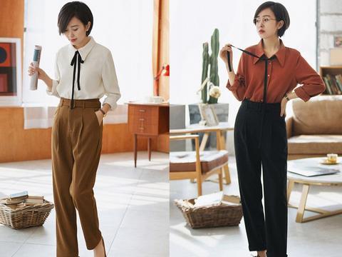 """春日:只要穿对""""直筒裤"""",人人都是大长腿!"""