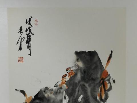 著名大写意画家赵长力作品展区
