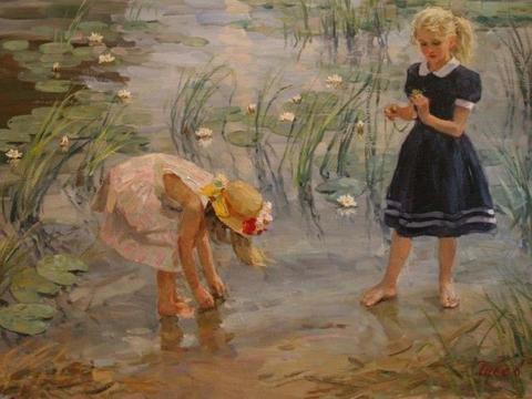 俄罗斯艺术家弗拉基米尔古谢夫浪漫主义油画作品欣赏