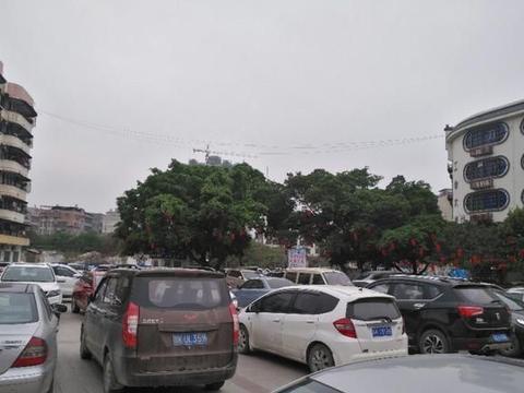 陆川城变成了暂时的汽车城
