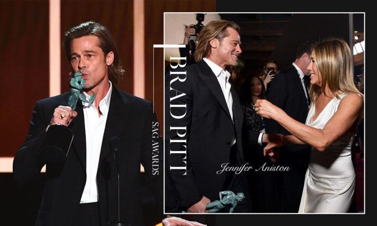 布拉德皮特获男配角奖自嘲「单身中」詹妮弗含泪看着曾经的最爱