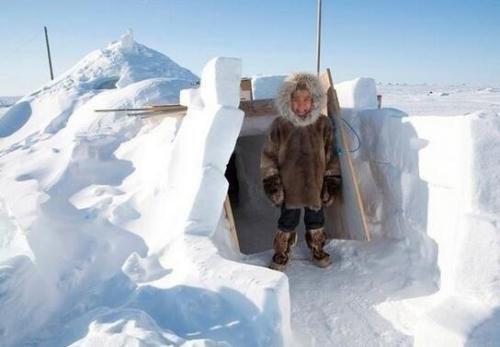 北极唯一的居民因纽特人,为何独爱住冰屋?进屋后才明白