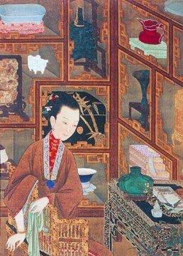 组图:故宫博物院藏珍品12幅清宫旧藏美人图