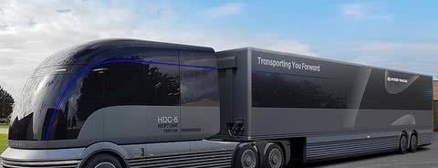 灵感来自30年代流线型火车,韩国现代推出氢能冷藏重型概念车