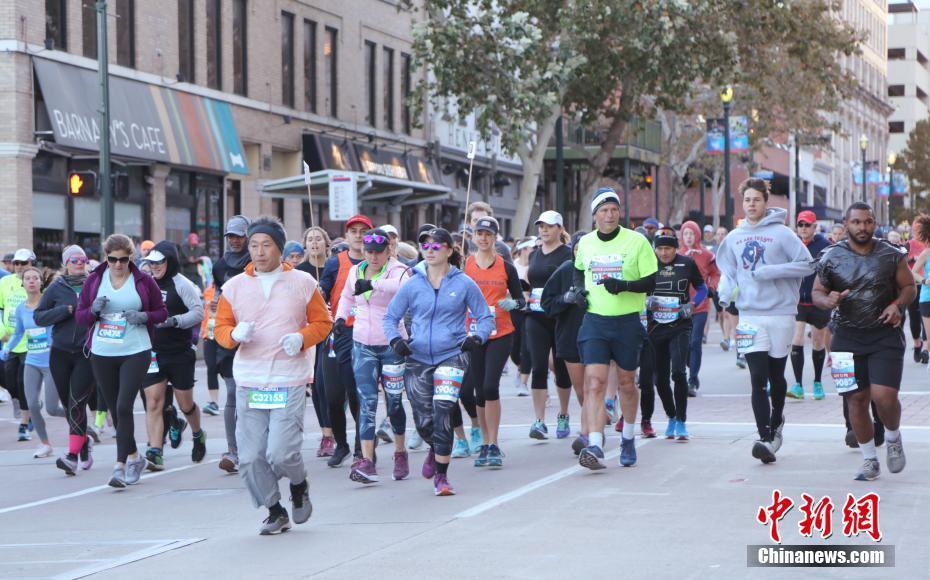 第48届休斯敦马拉松赛开跑第48届休斯敦马拉松赛开跑