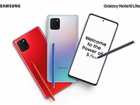 三星Galaxy Note10 Lite登陆印度市场:售价38999印度卢比
