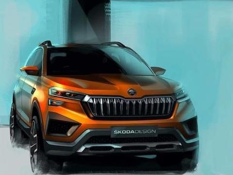斯柯达新概念车预告图发布 亮相印度新德里汽博会