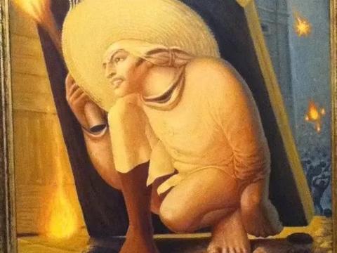 7幅神奇的画中画,第6幅中有12张人脸,你能看出几张?