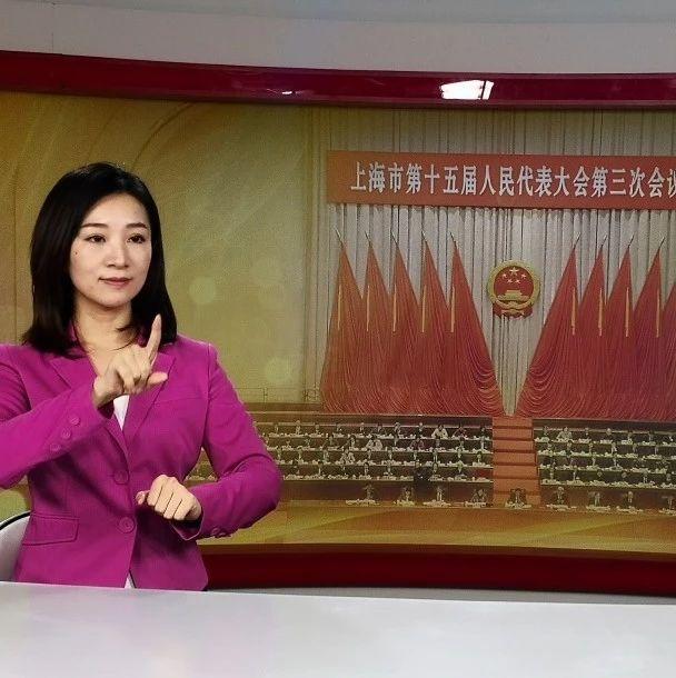 """文明标杆!为了让聋人""""听""""两会,上海手语翻译团队奉献了8年"""