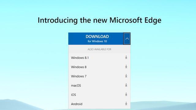 微软全新浏览器Microsoft Edge已上线,支持7个平台90多种语言